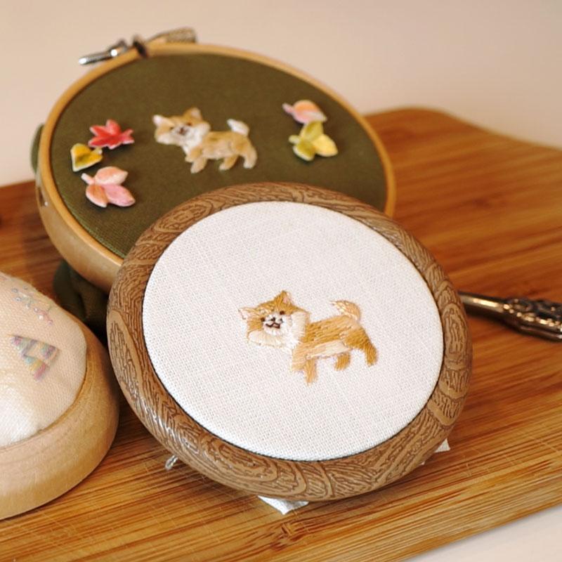 Walking Shiba Embroidery