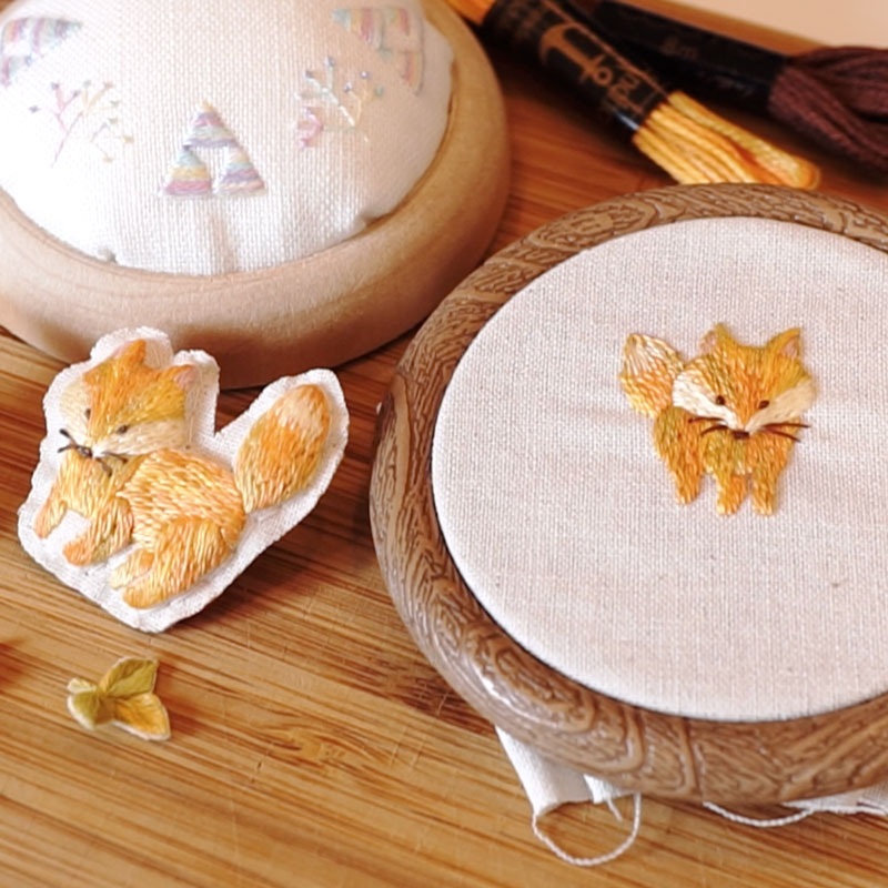 Golden Fox Embroidery