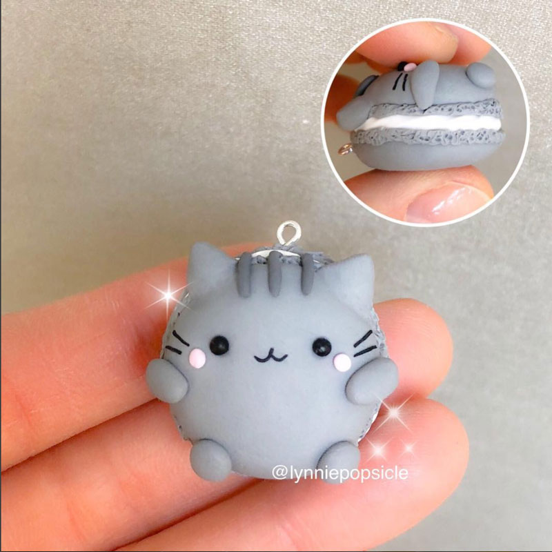 Kawaii Chubby Grey Cat