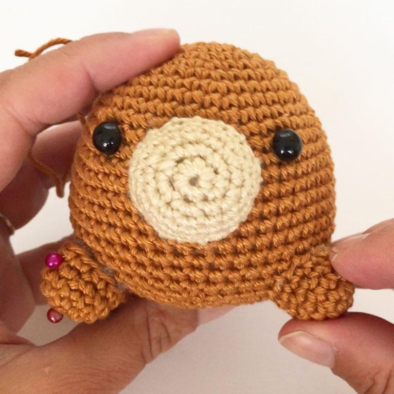 かぎ針編みのクマのぬいぐるみ Day.3