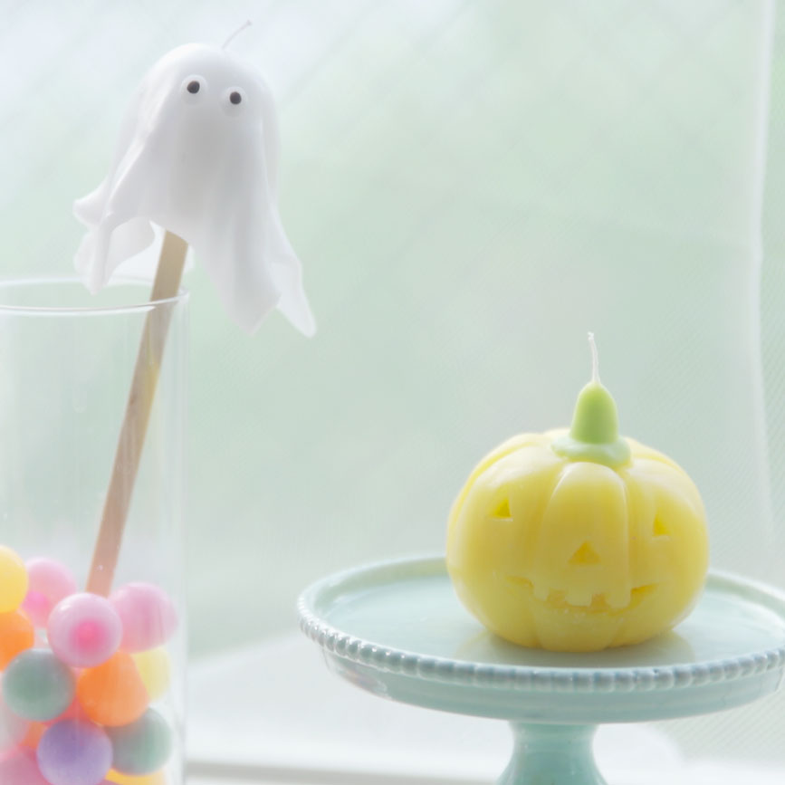 Pumpkin and Ghost Candles