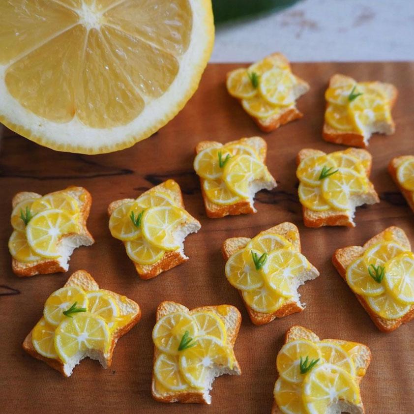 蜂蜜柠檬烤面包