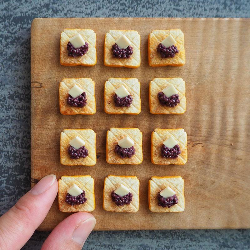 豆沙黄油吐司面包的制作方法