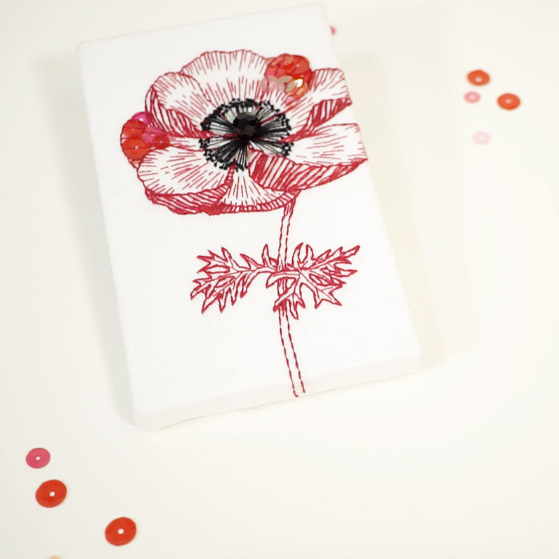 Anemone Embroidery