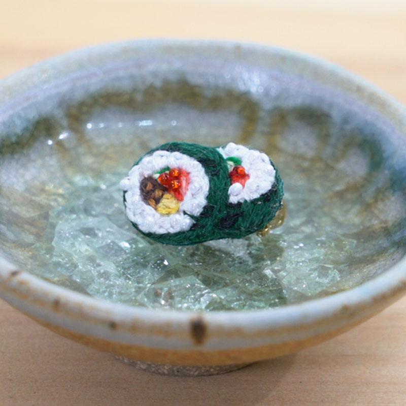 お寿司刺繍ブローチシリーズ -細巻き-