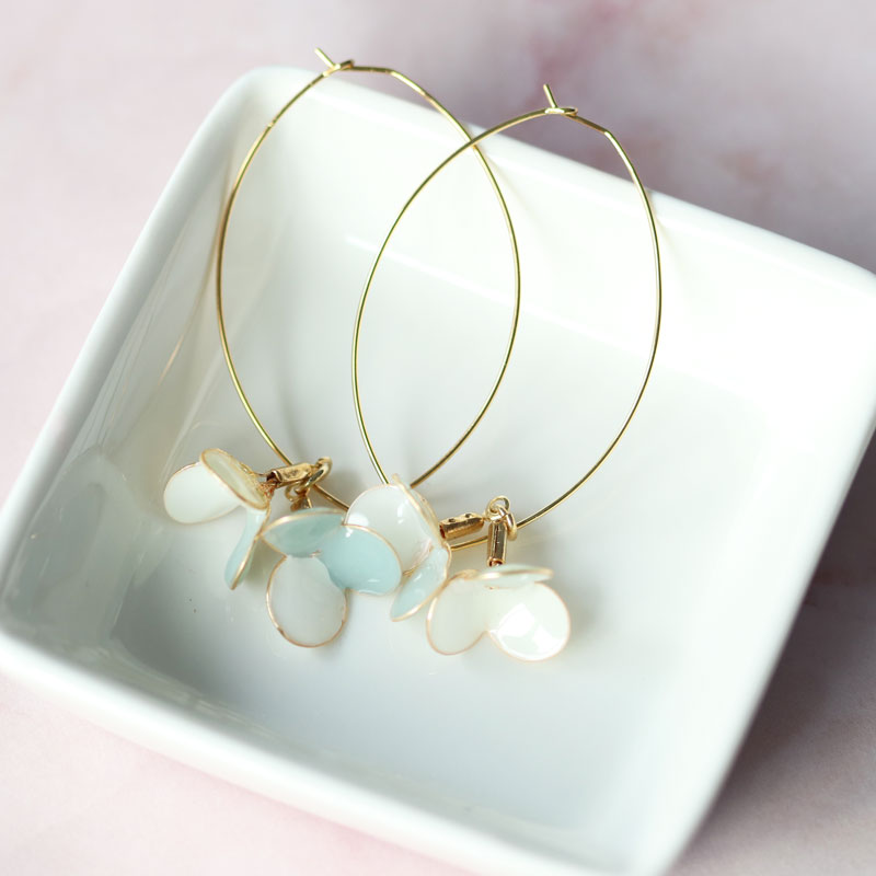 【Intermediate】Flower Hoop Earrings