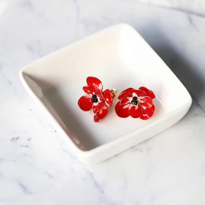 【Advanced】Manicure Flower Anemone Earrings