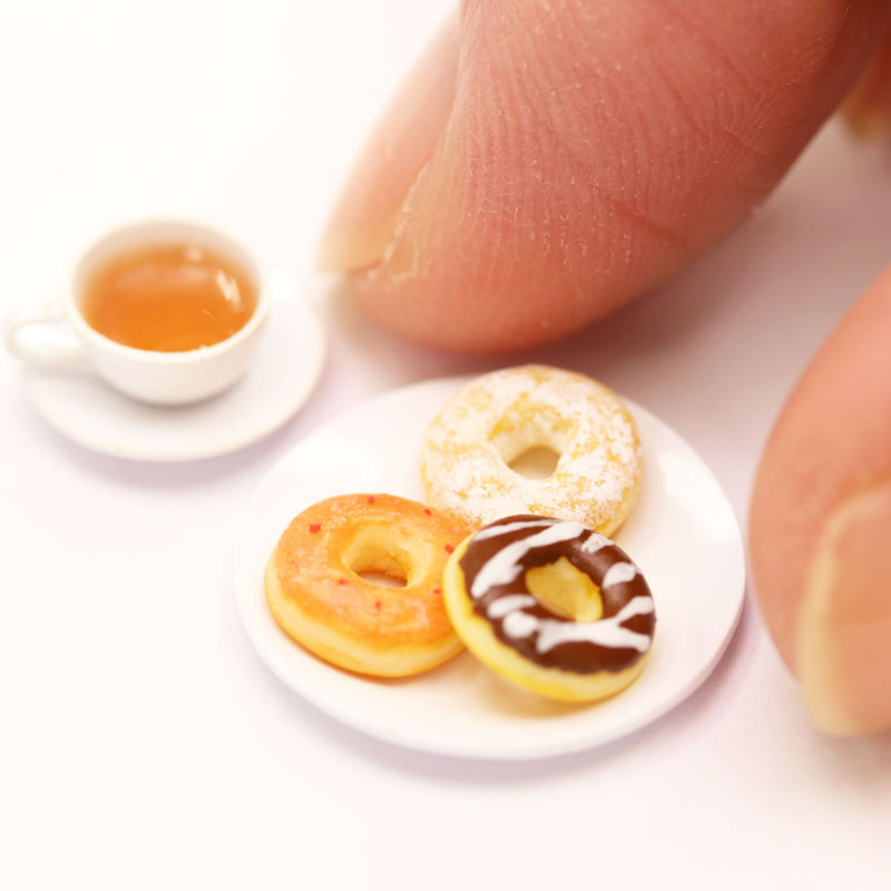 Miniature Snacks ④: 3 Types of Doughnut