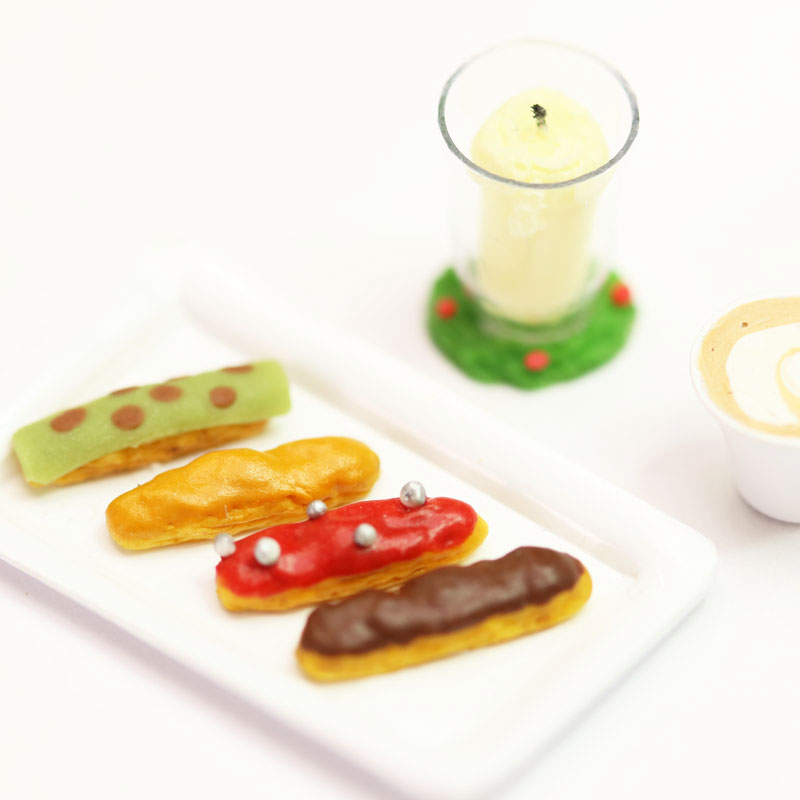 Miniature Snacks ⑤: 4 Types of Eclair