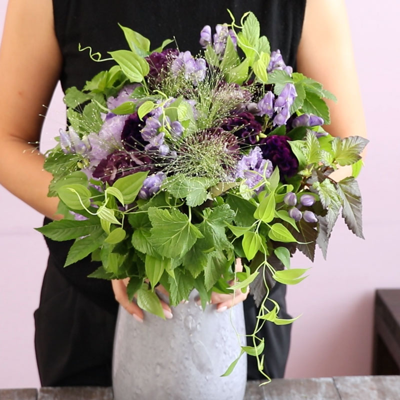 Mallow's at Home-Bouquet of Lisianthus and Cockscomb-