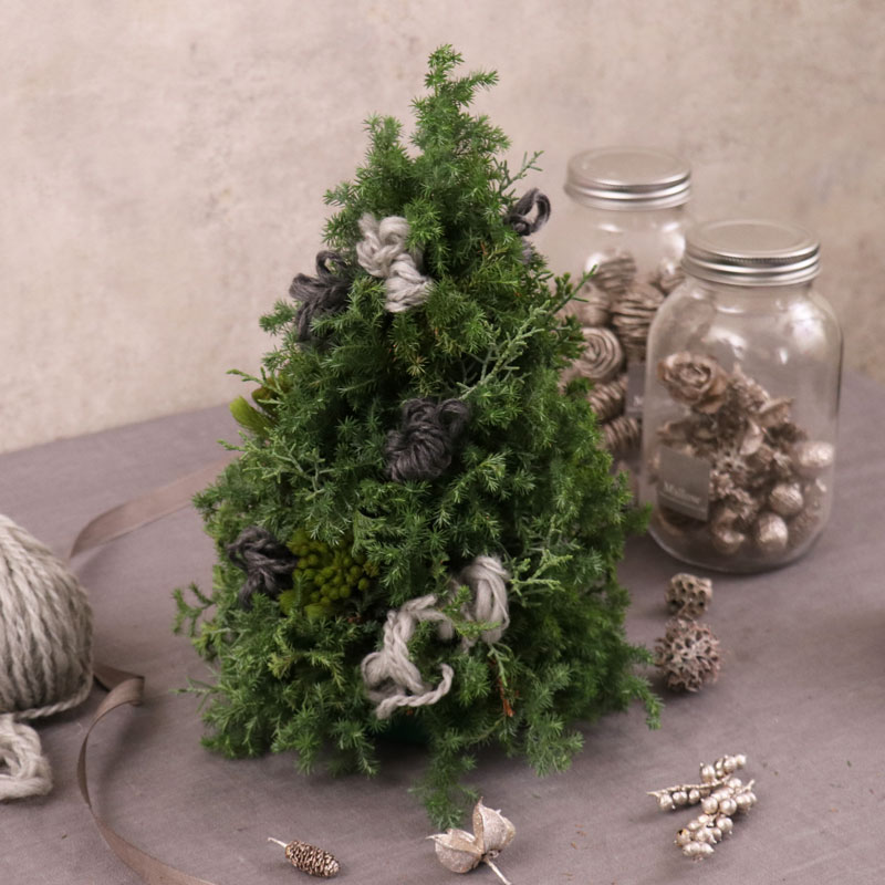 【w/ Floral Kit for Japan ONLY】Mallow Christmas Lesson <Winter Table Tree>