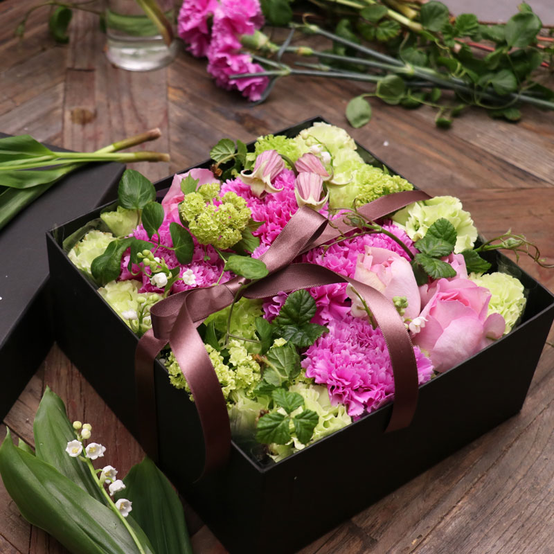 Boxed Flowers Including Carnation