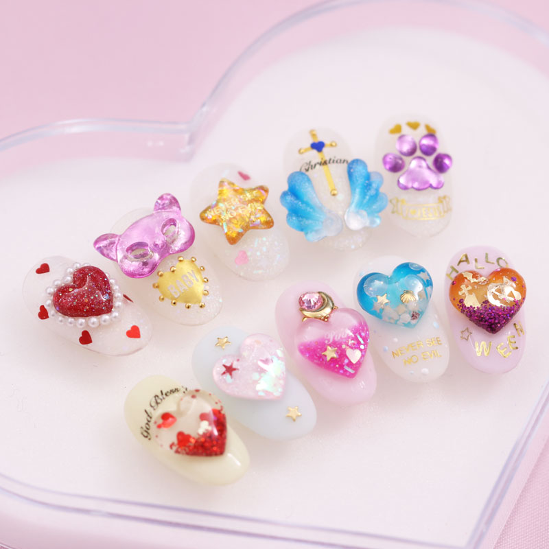 Silicone Mold Nail Decoration -Heart Capsules-