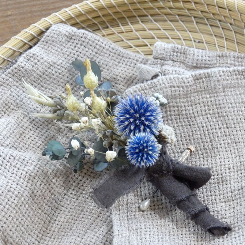 A Small Bouquet of Preserved Flowers -Natural Corsage-