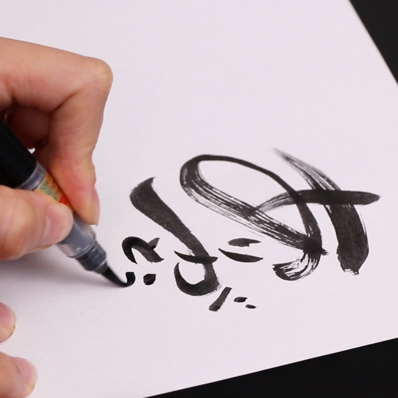 Nice and Smooth Brush Pen Drawing -Shorter Messages-