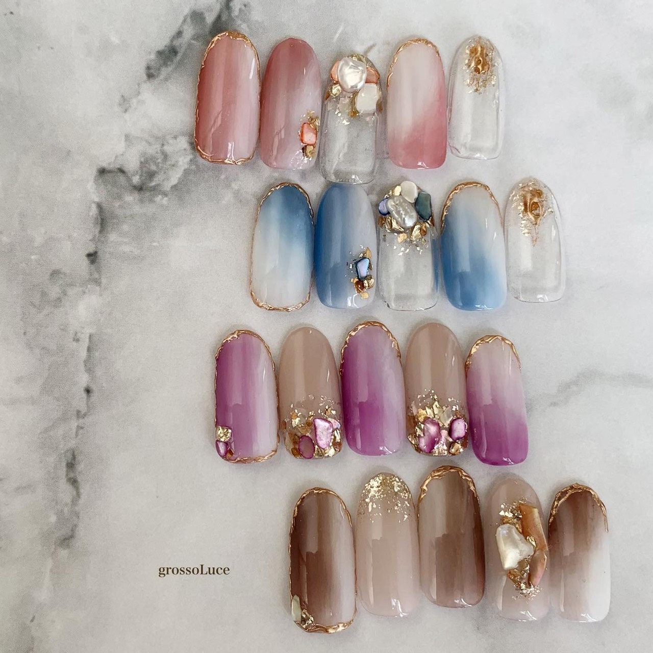 Decorated Ombre Nails