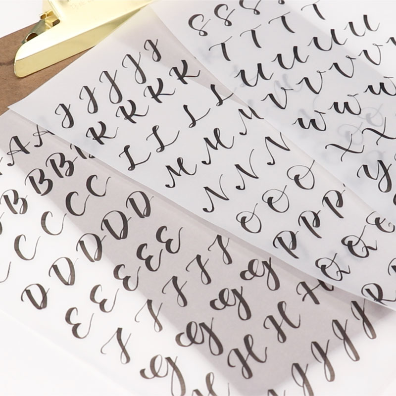 Brush Calligraphy: Uppercase Letters