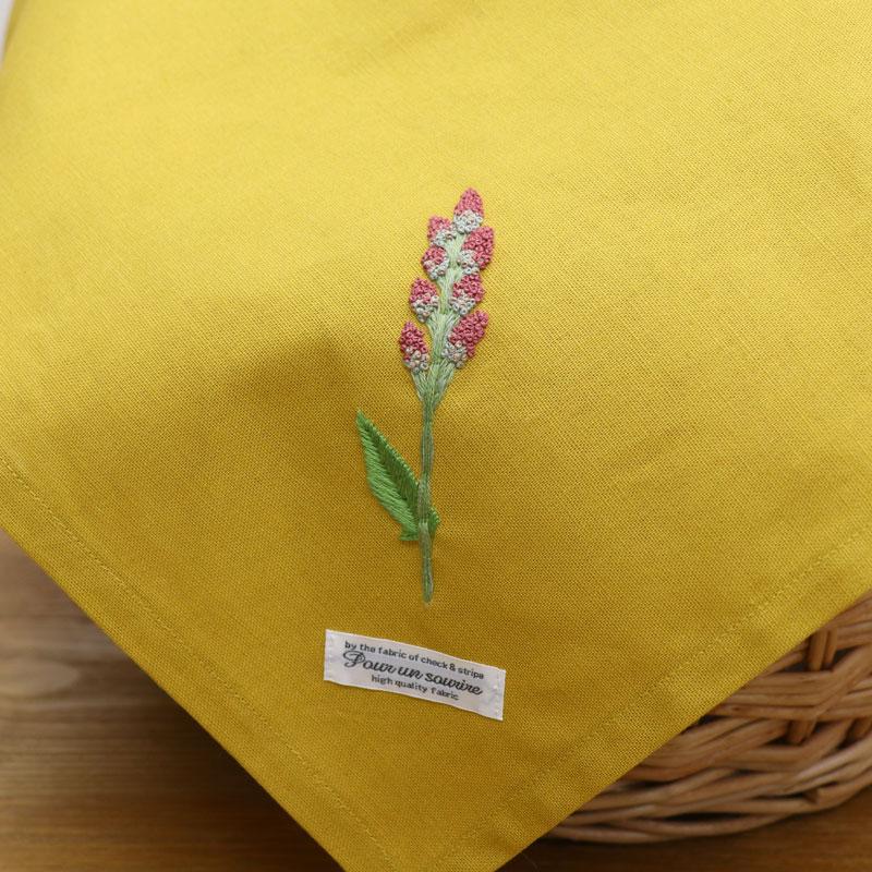5つのステッチでつくる「野の花刺繍 ~スイバ~ 」