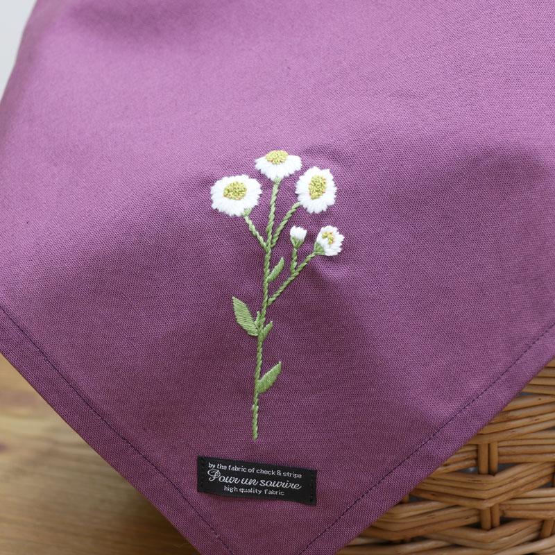 3つのステッチで「野の花刺繍 ~エゾノコギリソウ~ 」