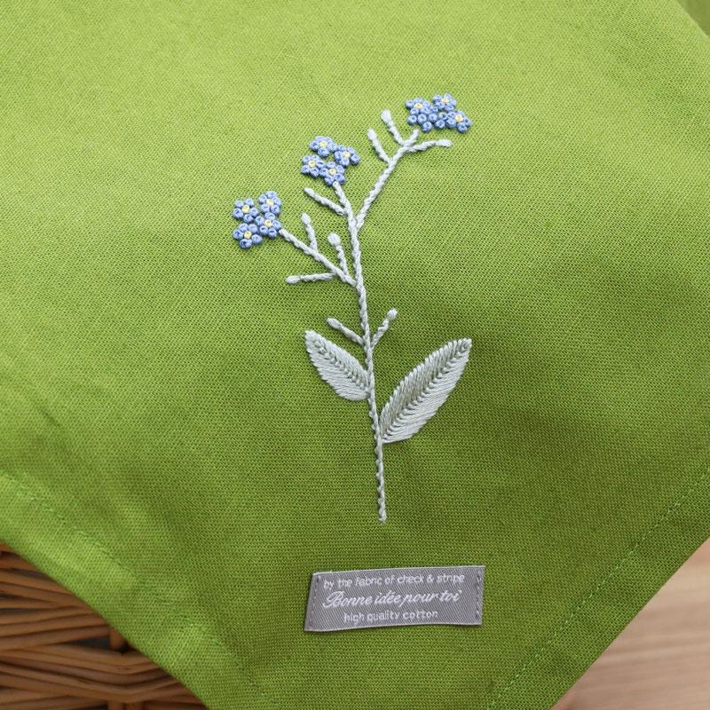 3つのステッチでつくる「野の花刺繍 ~ノハラムラサキ~ 」