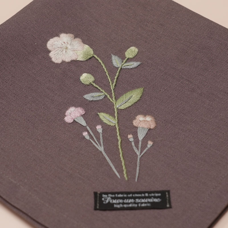 3つのステッチでつくる「野の花刺繍 ~④~ 」