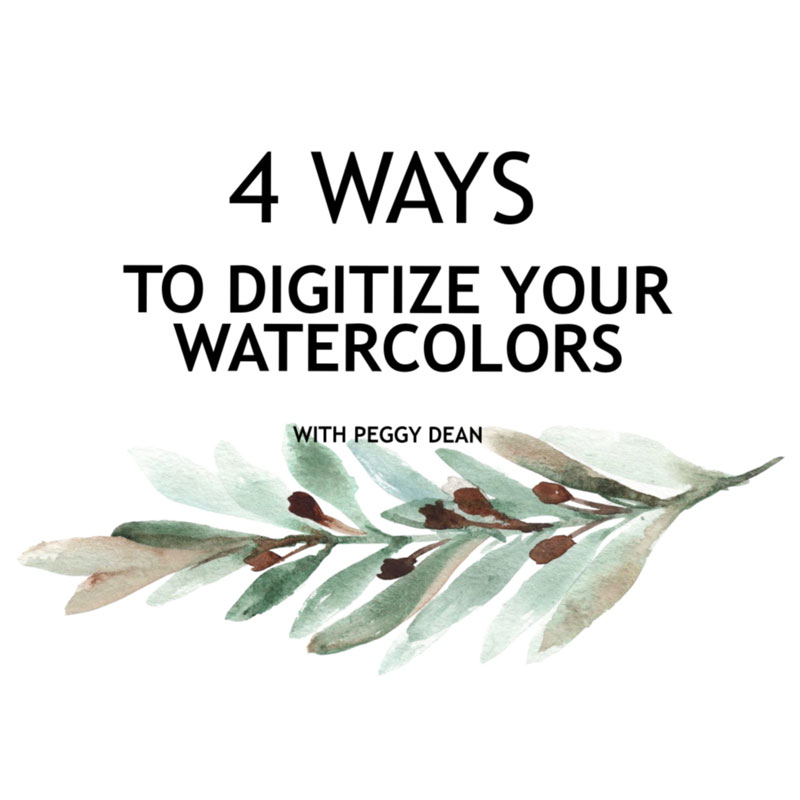 使用Photoshop將水彩畫數位化的4個方法