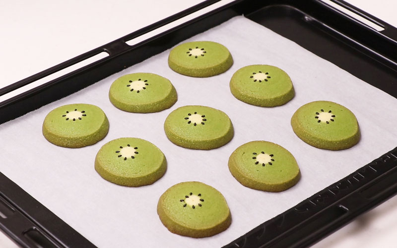 Kiwi Shaped Icebox Cookies Pastry Miroom