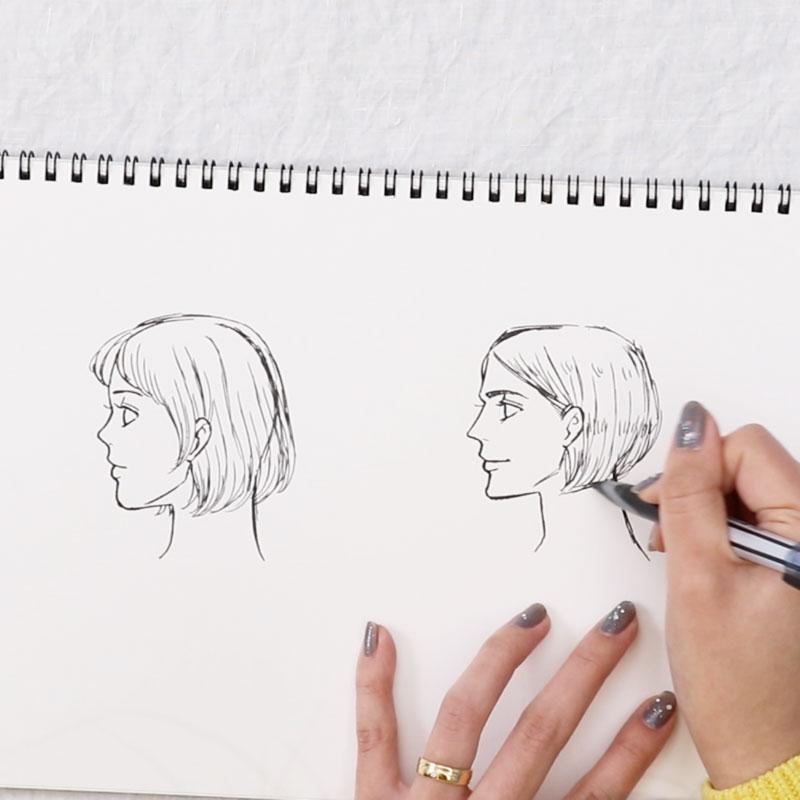 日本人と欧米人の描き分け方