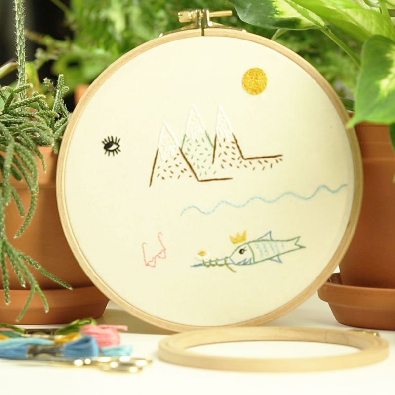 Sweet Scenery Design: 5 Basic Hand Embroidery Techniques