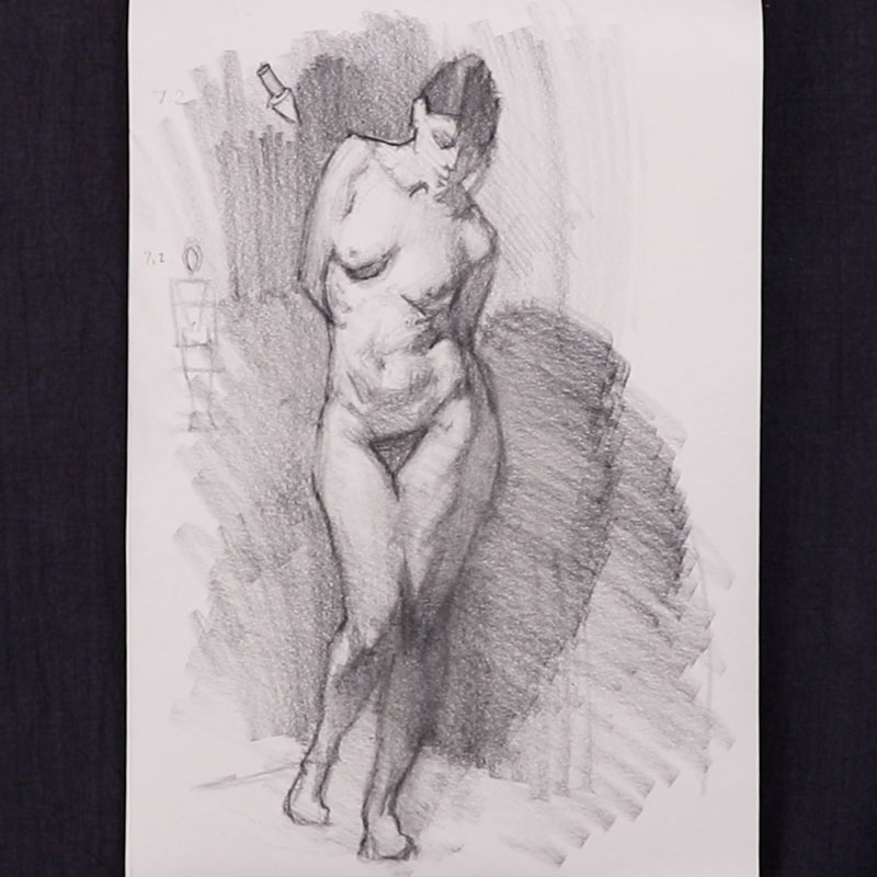Figure Drawing -  Nude Figure Quick Sketch