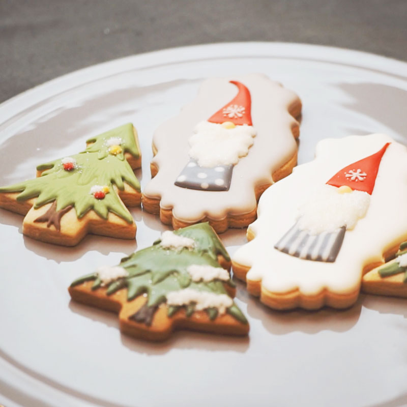 Christmas Forrest Sugar Cookies