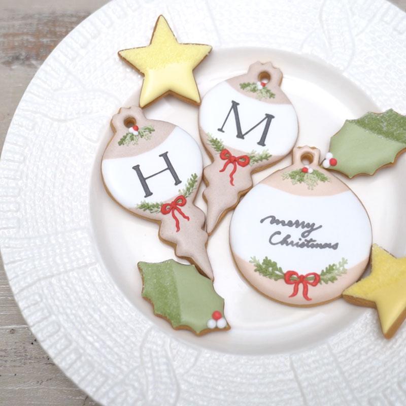クリスマスモチーフのアイシングクッキー