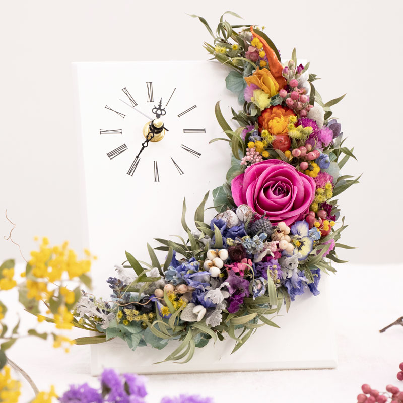 Dried Flower Clock