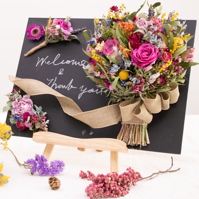 Flower Bouquet Welcome Board