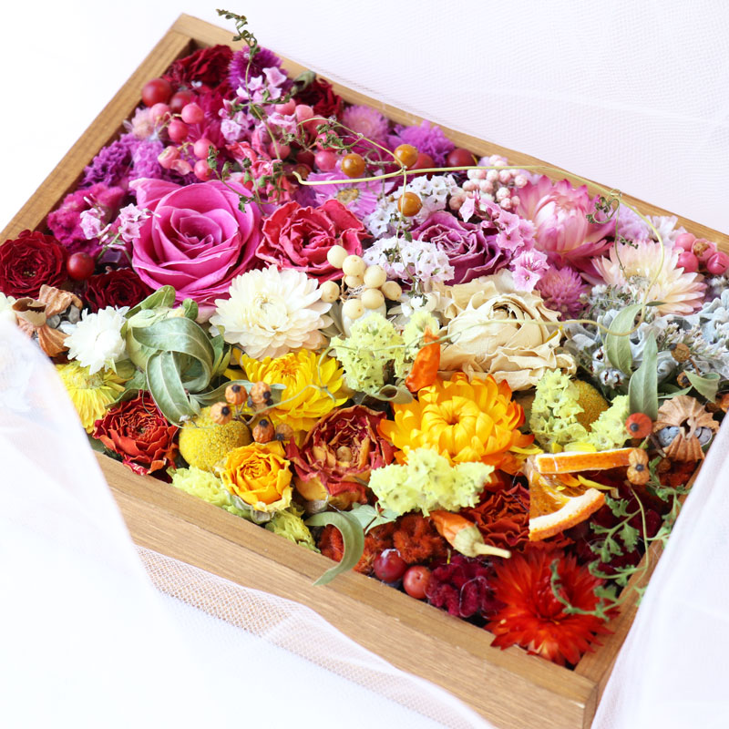 Flower Box with Dried Flowers