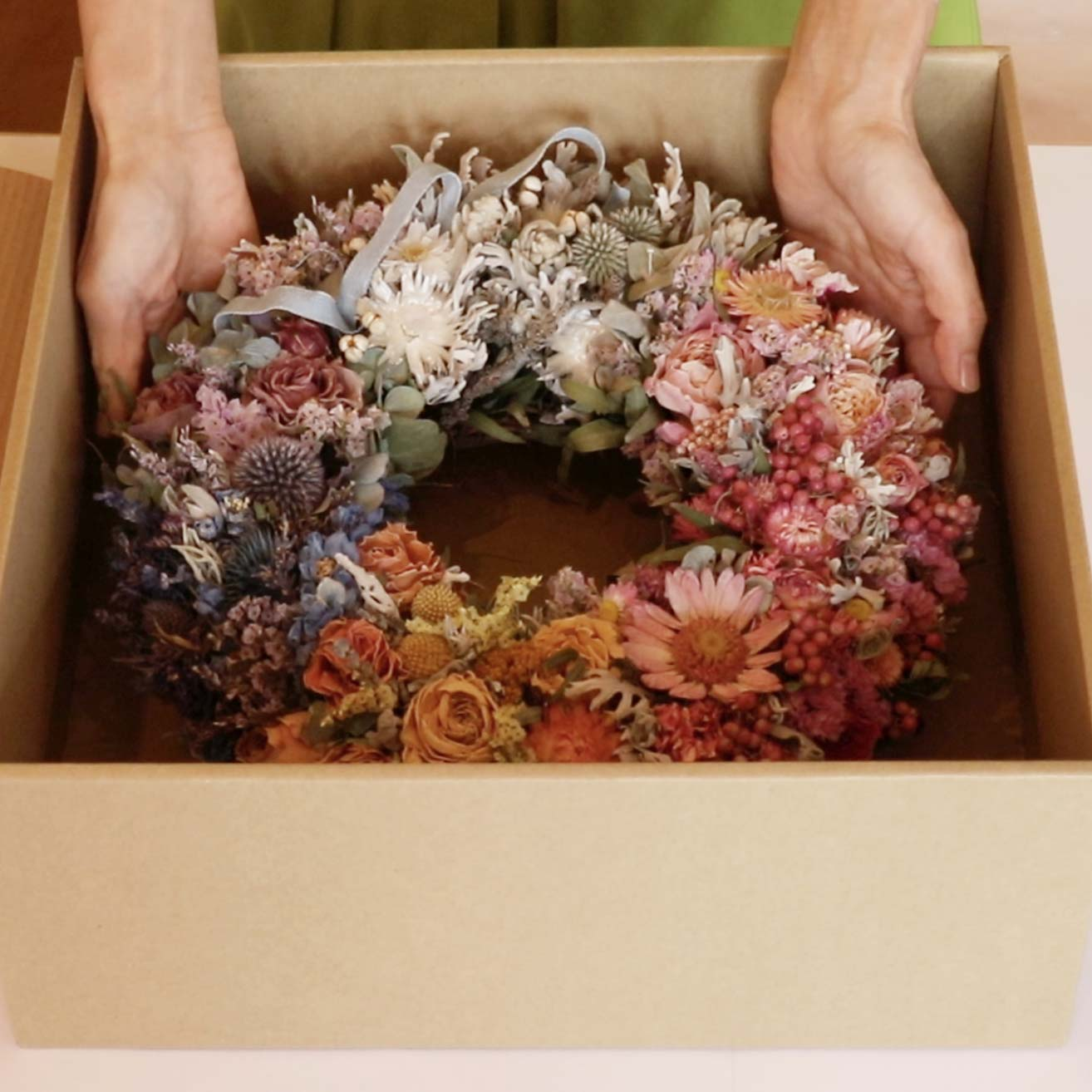 How to Safely Pack a Dried Flower Wreath