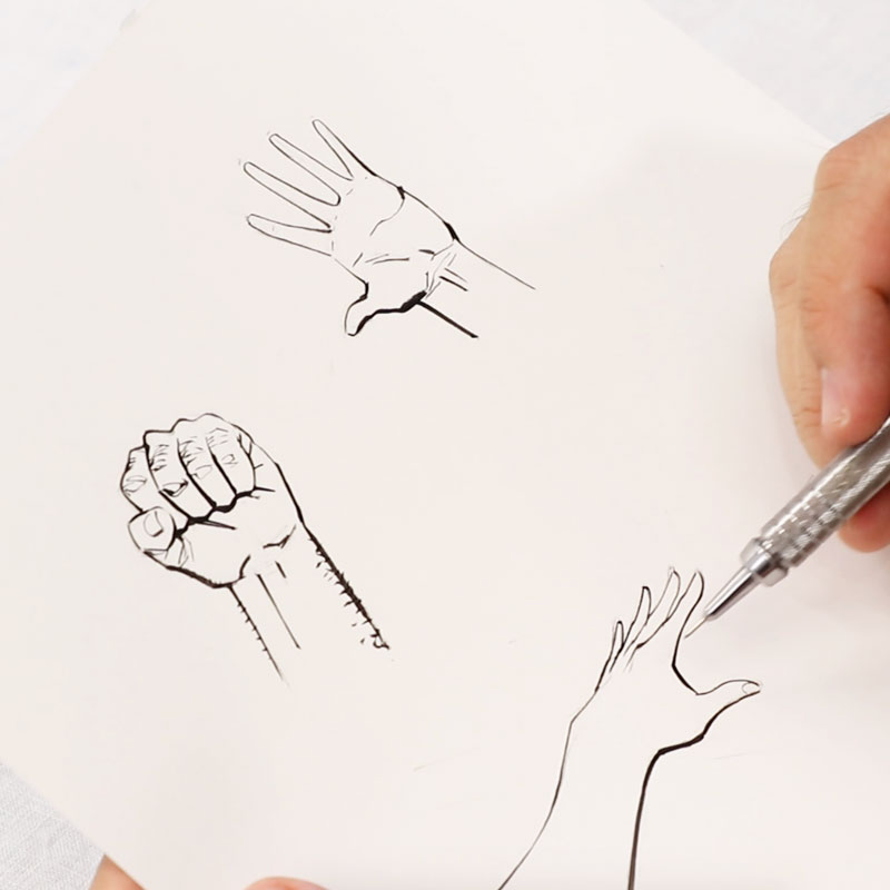 Various Ways of Drawing Hand