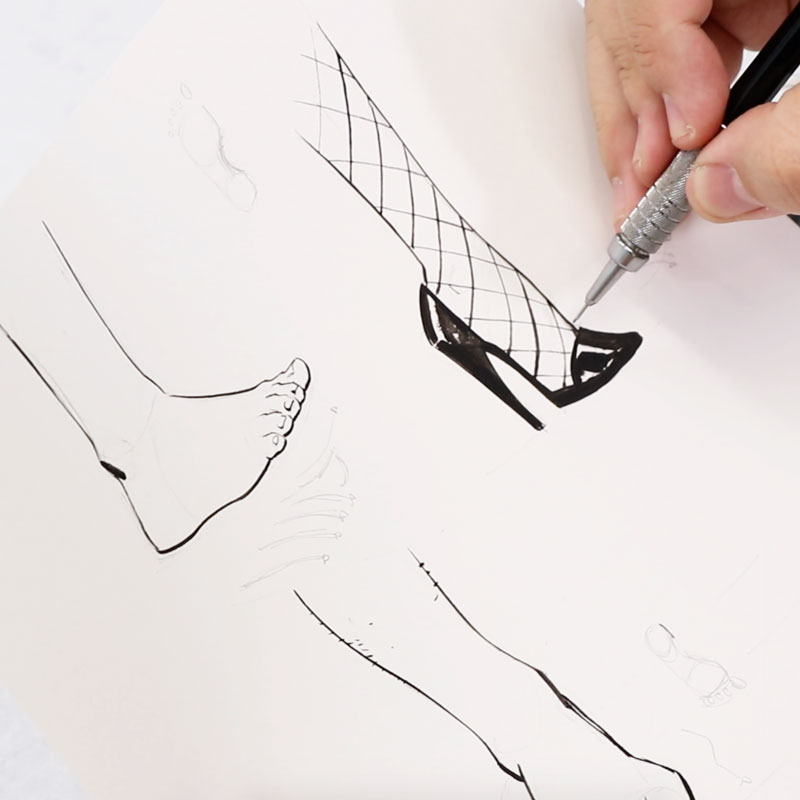 足の描き方のバリエーション(仮)