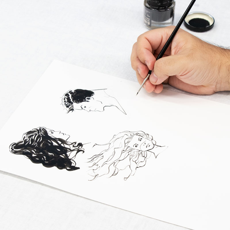 Various Ways of Drawing Hair