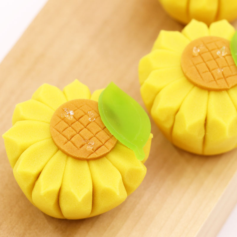 Adorable Sunflowers Using Nerikiri
