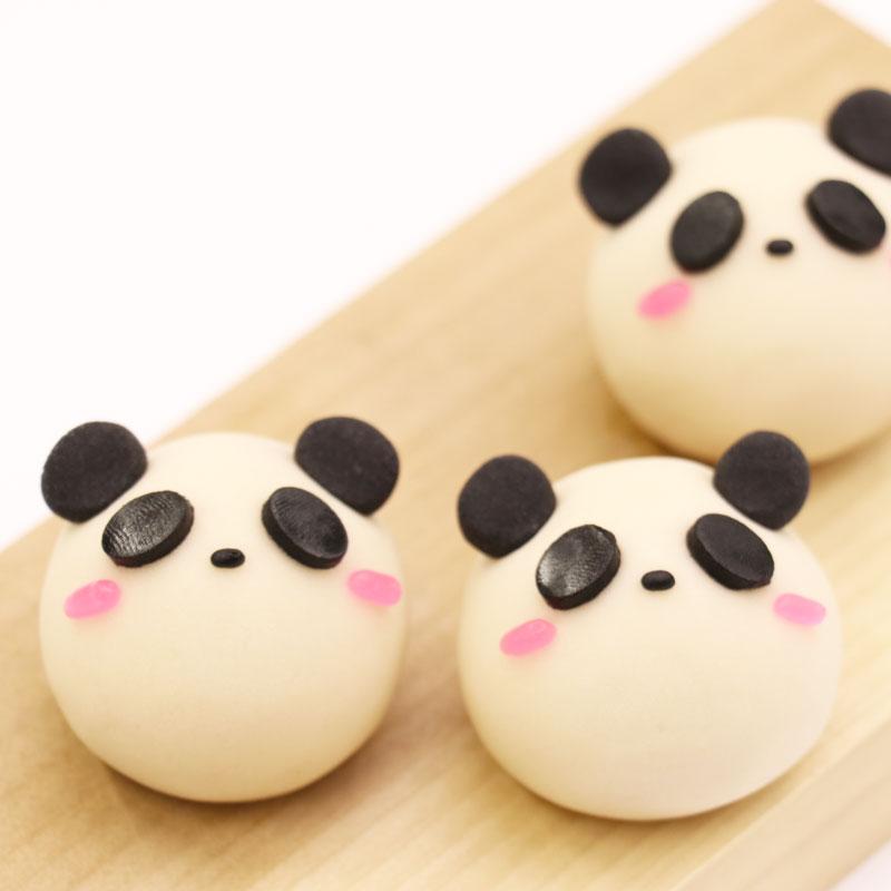 練切でつくる可愛いパンダの作り方