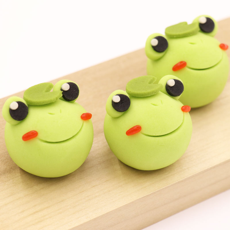 Adorable Frog Using Nerikiri