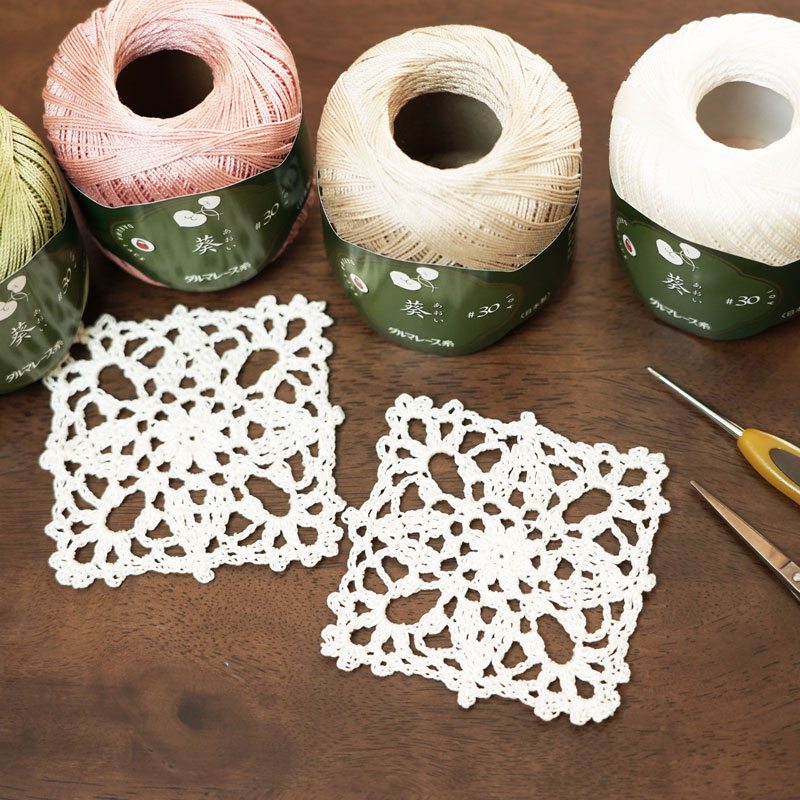 Square Doily to Learn How to Use a Template