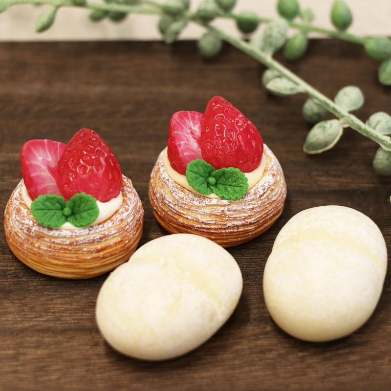 いちごデニッシュ&白パン