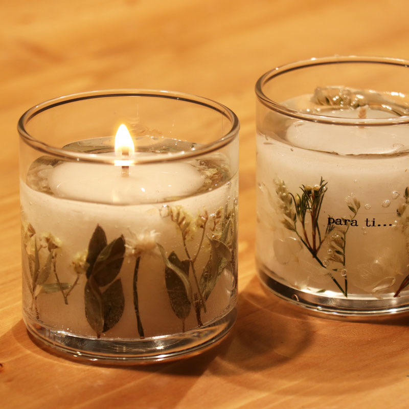 Palm Oil & Gel Botanical Candle