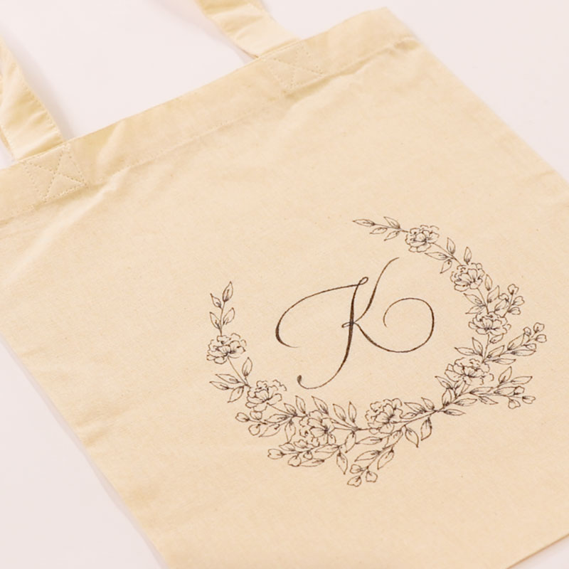 Wreath on a Tote Bag