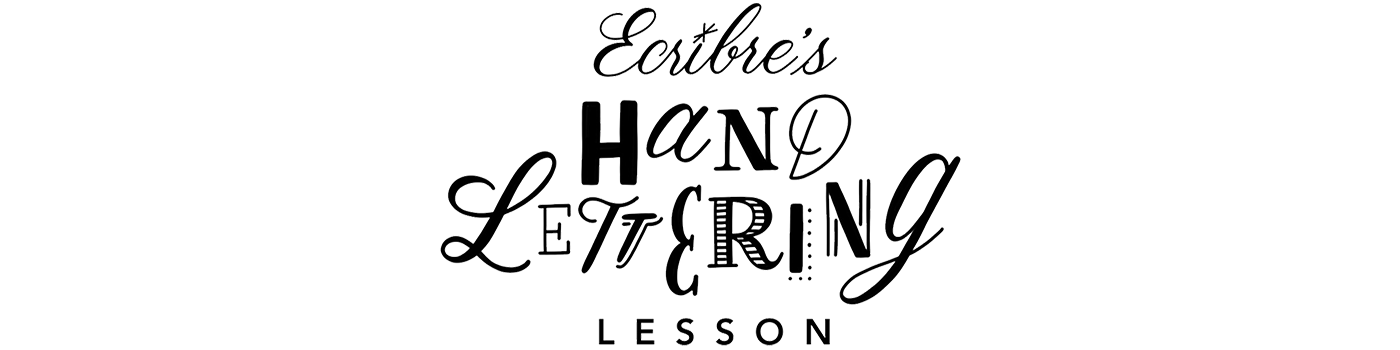 ecribre's Hand Lettering lesson