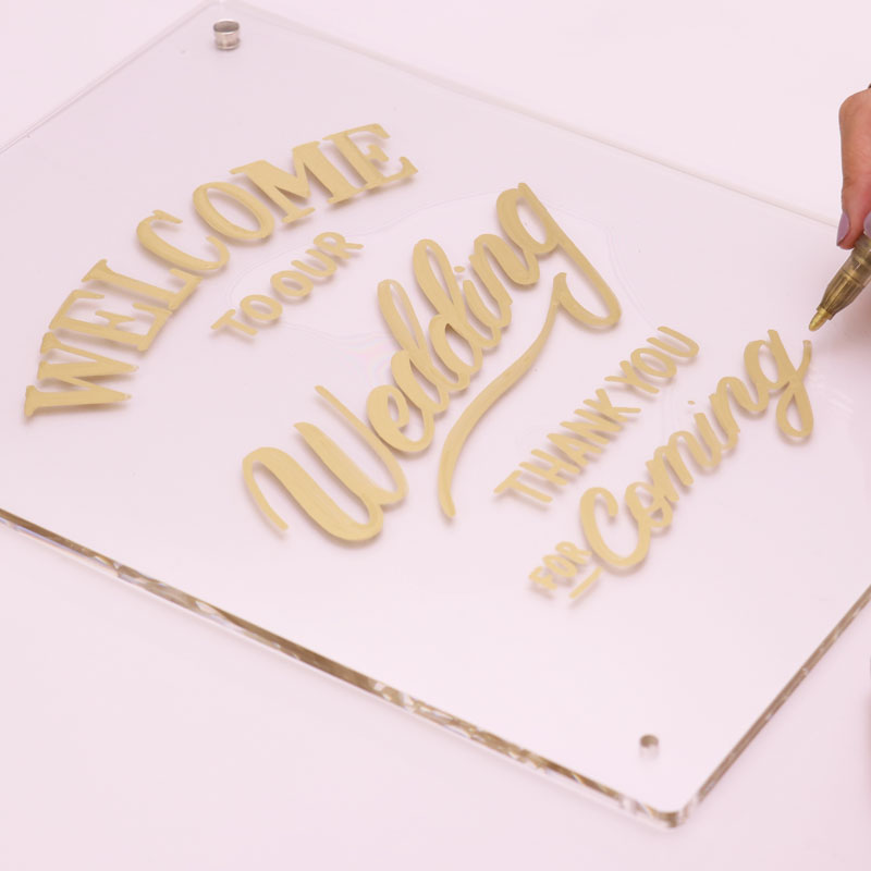 Acrylic Welcome Board