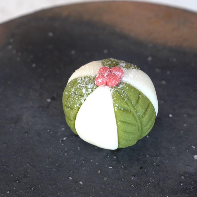 和菓子で楽しむクリスマス -千両-