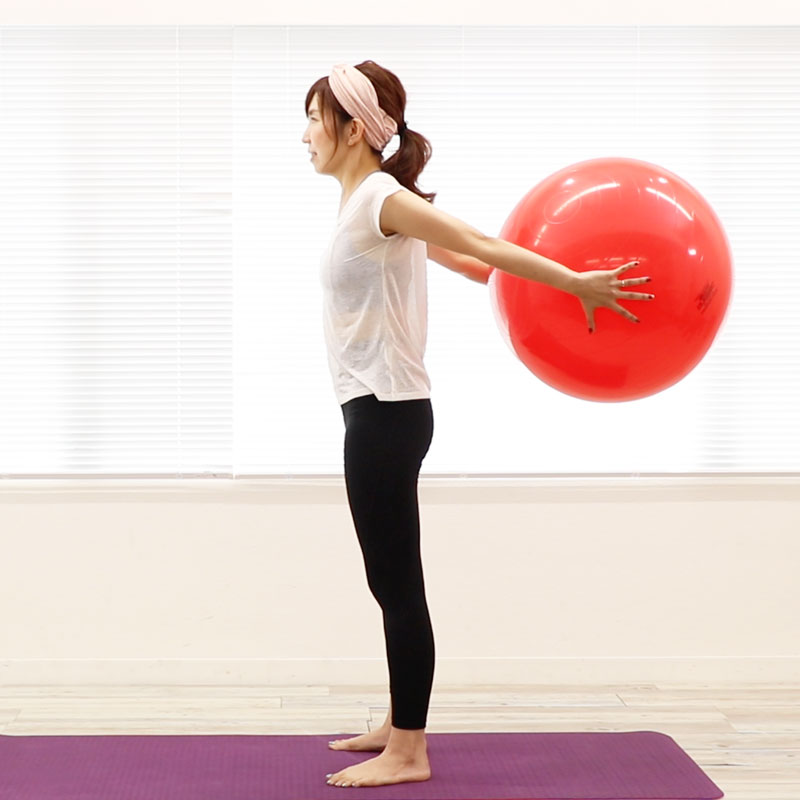 Tighten the Upper Arms with a Balance Ball